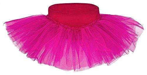tu Ballettrock Pia aus weicher Baumwolle und Tüll zum Reinschlüpfen - Tuturock in pink, Größe:104/110 ()