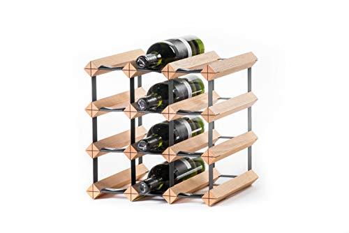 RAXI Marken Holz Weinregal Classic für 12 Flaschen (zerlegt)