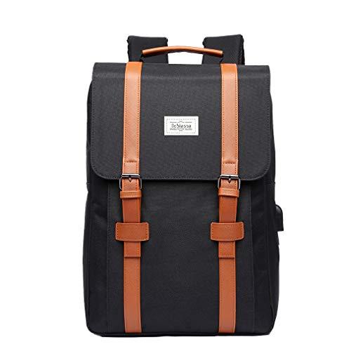 Zaino Pc Backpack 17 Pollici Per Computer Portatile Laptop 15 Pollici Anti-furto Zaino ImpermeabileCon Porta USB Nera