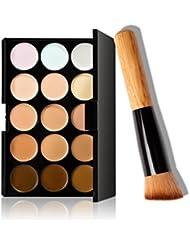 RETUROM 15 colores de maquillaje cepillo del maquillaje Corrector Contorno + Paleta