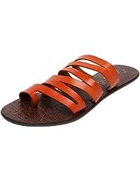 Catwalk Orange Leather Slip-on for Women's