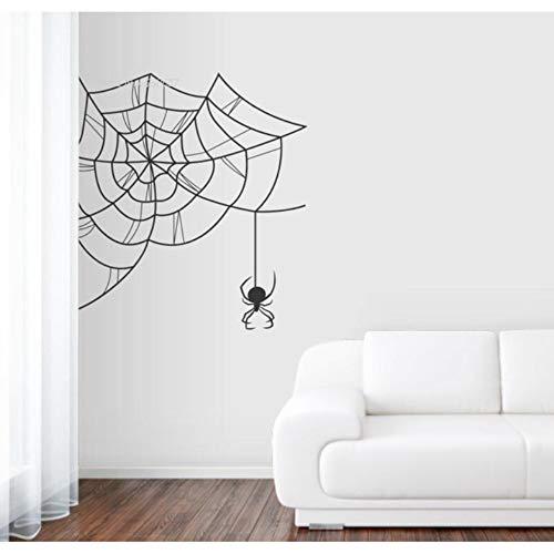 ekor Decals Black Widow Spiderweb Wandtattoo Vinyl Wandaufkleber Wohnzimmer Removalbe Starken Klebstoff 58X58 Cm ()