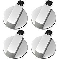 4 Piezas Botón del Horno de Cocina, Gosear universal metal interruptor giratorio perillas de control accesorios de reemplazo para cocina estufa de gas horno estufa (Diámetro 6mm)