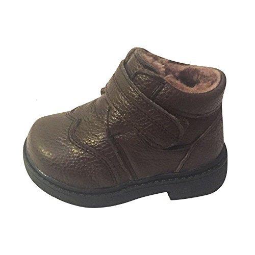 Jungen Kleinkind Kinder Echtleder Winter Ankle Boots Größe Braun