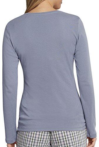 Schiesser Damen Langarmshirt 158507 Graublau