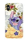 Coque téléphone pour Iphone X XS Lilo and Stitch Ohana Cute Sweet Disney 20 Dessins