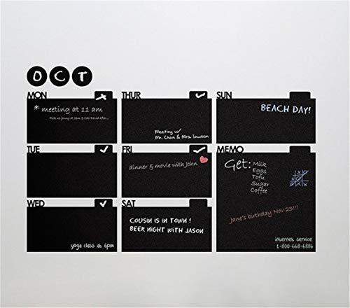 stickers muraux 3d Mémo hebdomadaire Mois Calendrier Liste des objectifs Plan Bricolage Tableau Murale Cuisine Bureau Bureau Salon salle d'étude