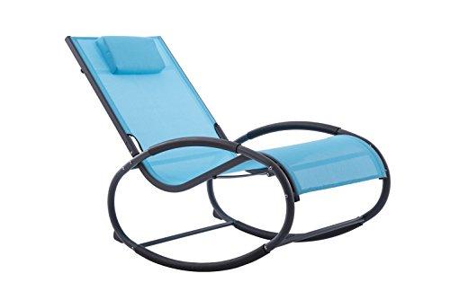 Vivere WAVEROCK1-OB Chaise à Bascule Aluminium Bleu Océan 122 x 61 x 91 cm