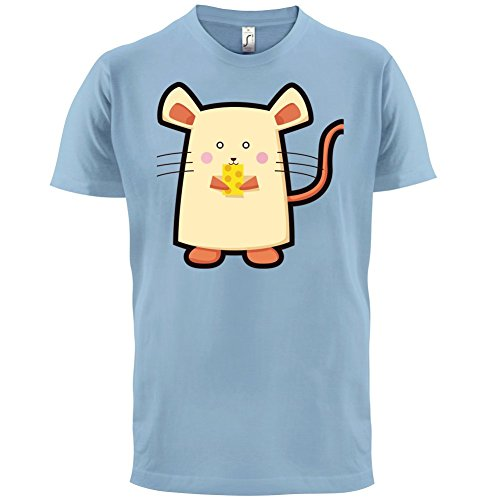 Cute Mouse - Herren T-Shirt - 13 Farben Himmelblau