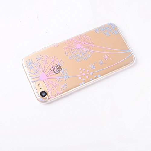 "Coque iPhone 7 , IJIA Ultra-mince Transparent Bleu Beau Roses TPU Doux Silicone Bumper Case Cover Shell Housse Etui pour Apple iPhone 7 4.7"" TT3"