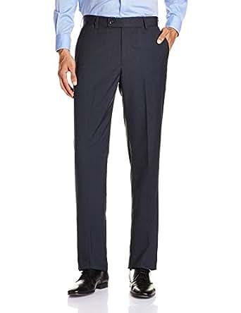Knighthood Men's Formal Trouser (8907403983911_1000255857001_30W x 35L_Navy )