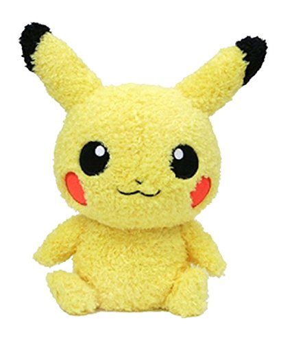 Novelty & Special Use Cartoon Anime Pokemon Pikachu Plush Toy Fashion Creative Dark Pikachu Sitting Position Plush Doll Child Birthday Present Elegant In Smell