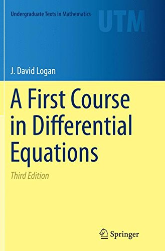 A First Course in Differential Equations par J. David Logan