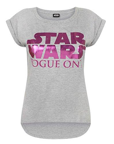 Star Wars Rogue One Women's Dipped Hem T-Shirt (M)