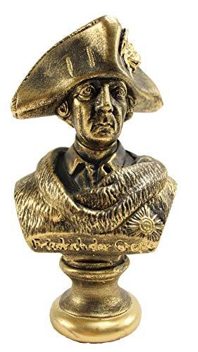 Deko-König Friedrich Büste Bronze aus Stuckgips (19x8x11 cm) handbemalt 2032 K9