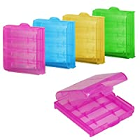 chinkyboo 5x Hard Plastic Case Holder Storage Box for AA / AAA Battery (Color send by random)