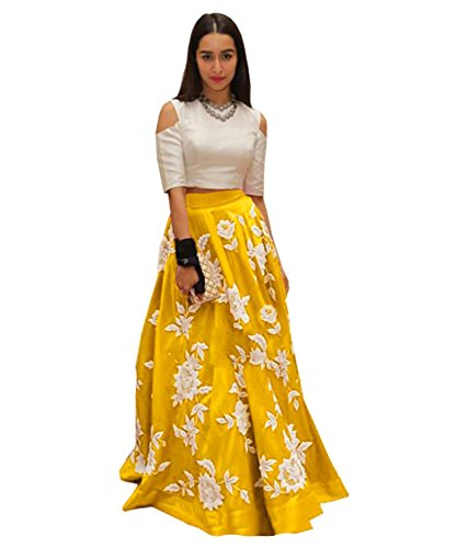 Vaidehi Creation Women's New Attractive CottonSilk Skirt / Lehenga (Yellow)