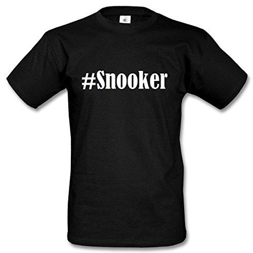T-Shirt #Snooker Hashtag Raute für Damen Herren und Kinder ... in der Farbe Schwarz Schwarz
