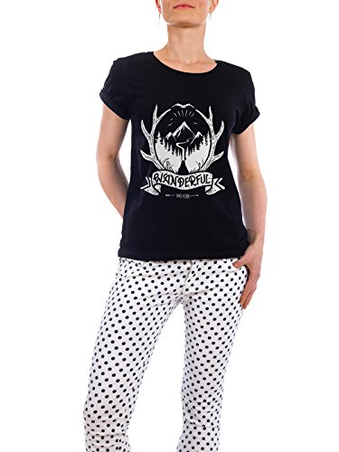 design-t-shirt-frauen-earth-positive-wandeful-in-schwarz-grosse-m-stylisches-shirt-typografie-natur-