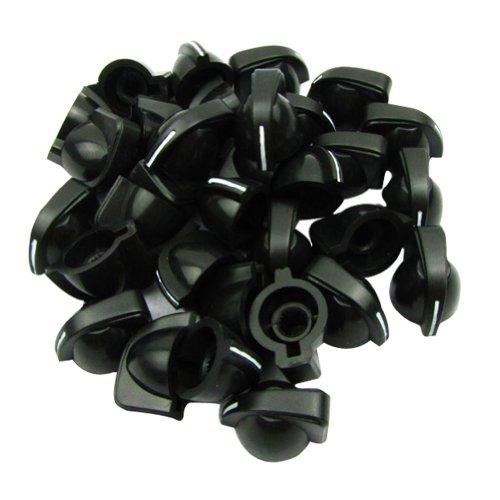 IKN Kunststoff-Knöpfe für Gitarre, Bassverstärker, Hühnerkopf-Design, Schwarz, 6 Stück 60pcs Schwarz