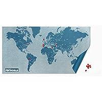 Palomar Pin World Maps - Mapa del mundo, color azul claro, talla 124 x 66 cm (Estándar)