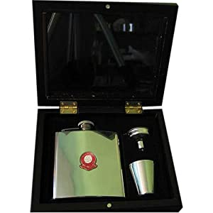 Charlton Athletic 'The Valliants' Football Club 6oz Hip Flask Gift Set
