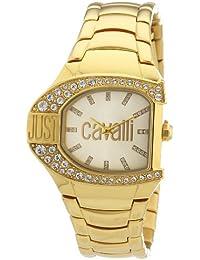 Just Cavalli Damen-Armbanduhr JC LOGO Analog Quarz Edelstahl beschichtet R7253160501