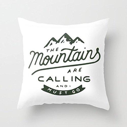 Dekoratives Kissen Fall die Berge sind Calling Kissenbezug 45,7x 45,7cm