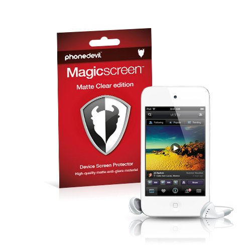 4th Screen Protector Ipod (Displayschutzfolie MediaDevil Magicscreen: Matte Clear (Blendschutz) – für Apple iPod Touch 4 G/4Ta Generation (2010 & 2011) – (2 x Displayschutzfolien prottettive))
