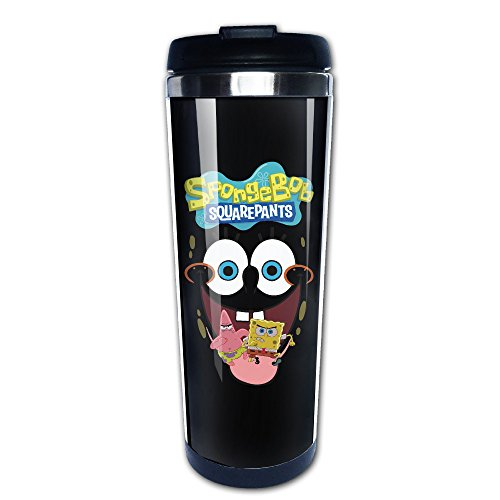 ALLWEKNOW Spongebob Schwammkopf Kaffee Tee Tasse Kaffee Thermos Edelstahl ideal für jedes Kalte oder heiße Getränke