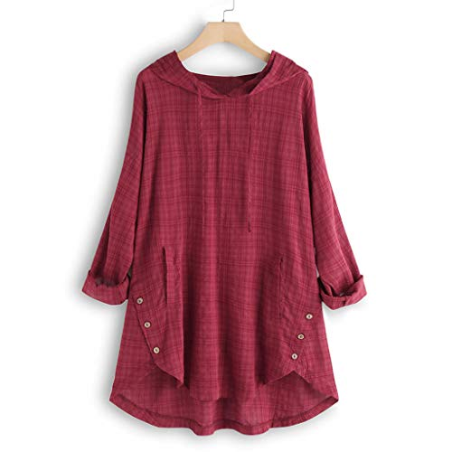 JUTOO Plus Größe Frauen Langarm Kaftan Baggy Button Baumwolle Leinen Lässige Mode Tunika Bluse