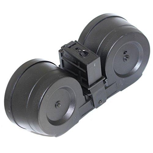 Airsoft Softair Ausrüstung BATTLEAXE 2500rd Drum Magazine Auto Wicklung Elektrisch C-Mag Für G36 AEG