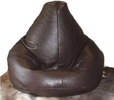 Sitzsack/Sessel Beanbag, echt Luxus Echt Leder Highback Stuhl