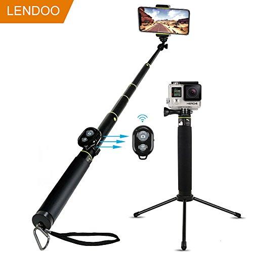 Galleria fotografica LENDOO Bastone Selfie Bluetooth Selfie Sitck di Aggiustable Treppiede per iphone 7/7plus/6/6s/6plus/Gopro Hero 5/4/3+/3/2/Xiaomi YI/Samsung/DSLR/1/4'' Compact Camera