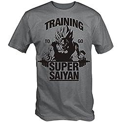 6TN Entrenamiento para ir Super Saiyan T Shirt (XXL)