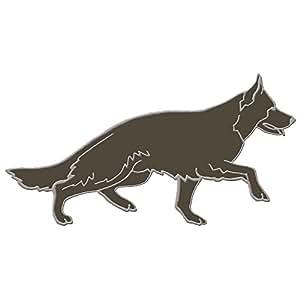 Écusson à coudre motif brodé-style berger allemand-produit neuf env. 90 x 42 mm (01716 r)