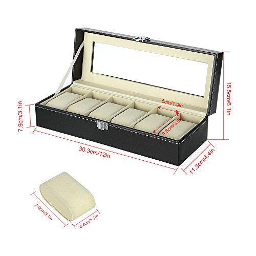 f1e330d07 FL0171 - Caja para 6 relojes (piel sintética) de Super Deal Genie ...