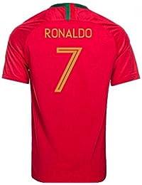 UKSoccershop 2018-2019 Portugal Home Nike Football Shirt (Ronaldo 7) - Kids