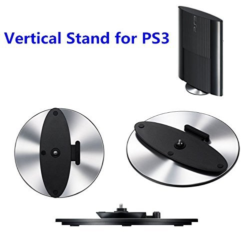Jiayu Tong,Useful Round Vertical Stand Holder Bracket Base Support Cradle For Sony PS3 Slim PS 3 PlayStation 3 Console Play Station 3 by Jiayu Tong Sony Support