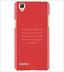 PrintDhaba Quote D-4974 Back Case Cover for OPPO F1 (Multi-Coloured)