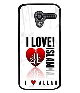 PrintVisa Designer Back Case Cover for Moto X (I love islam muslim quotes)