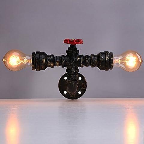Linkax Vintage Wandleuchte Wandlampe Water Pipe Wandleuchte Vintage Retro Wasser