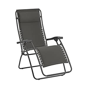 Lafuma Relax-Liegestuhl, Klappbar und verstellbar, RSX, Polyester/Baumwolle, Beige, LFM2033-8903