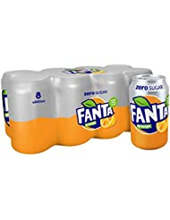 Fanta Orange Zero 8 x 330ml Cans