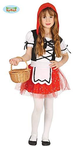 (Guirca Rotkäppchen Kleid für Mädchen Märchenkostüm Fasching in Gr. 98-128, Größe:110/116)