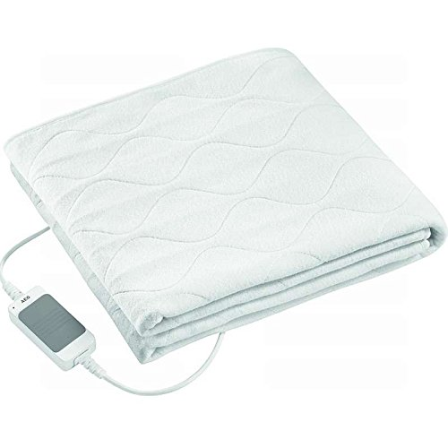 Elektrisches Wärmeunterbett mit 3 Heizstufen und Überhitzungsschutz Wärmbett Unterbett Bett Wärme (maschinenwaschbar + Abmessungen: ca. 70 x 150 cm)