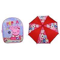 Peppa Pig London Backpack School Bag and Umbrella Set