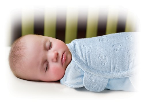 Summer Infant Lux SwaddleMe - Blue (Small) blau Pucksack Velboa *weich*