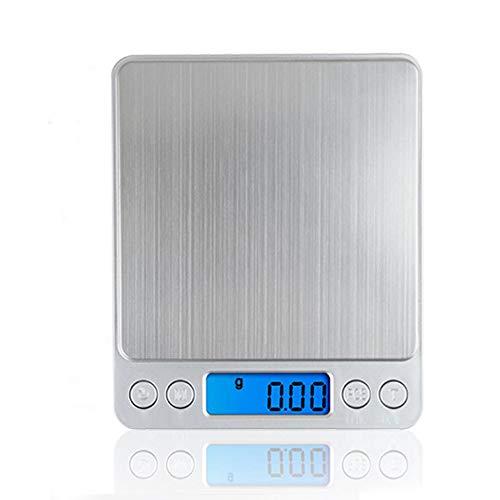 ZUZU Digitalskala 500g x 0,1g Portable Mini Electronic Scale Food Scale Pocket Post Kitchen Schmuck Gewicht Digitale Skala mit 1 Tray,2kg - Essen-gewicht-digital-skala