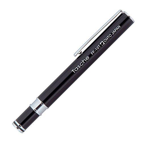 Ohto Tasche - Pluma estilográfica compacta, color negro